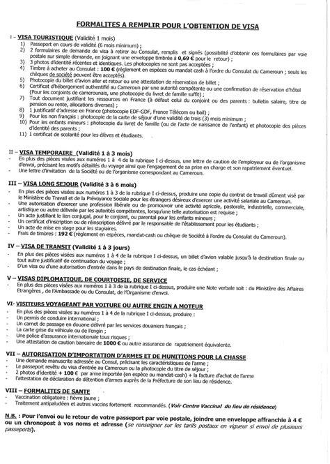 Lettre De Demande De Visa Au Consul Le Consulat Du Cameroun 224 Marseille Visa Les Grottes Sacr 233 Es Des Hautes Terres De L Ouest