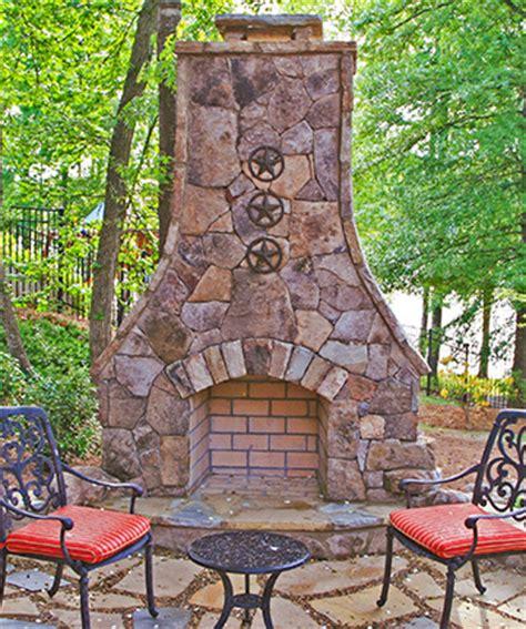 Backyard Firepits Outdoor Fireplaces Atlanta Outside Custom Fireplace