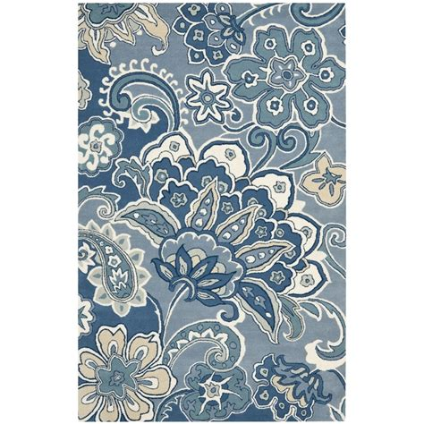 blue paisley rug handmade floral paisley blue new zealand wool rug