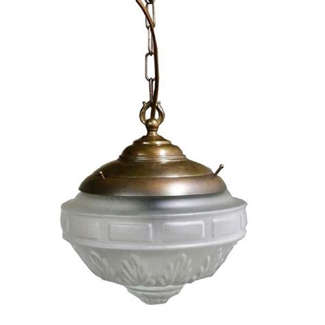Traditional Pendant Lights Character Ceiling Light Antique Frame With Frosted Glass