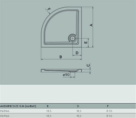 docce angolari misure piatto doccia semicircolare base angolare varie misure