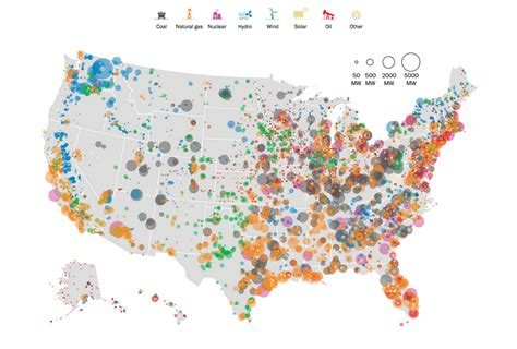 this insanely detailed map shows every power plant in the