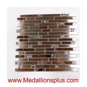 stainless steel and glass backsplash medallionsplus