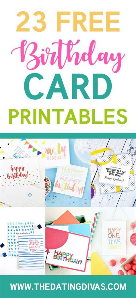 printable birthday card list 25 unique free printable birthday cards ideas on