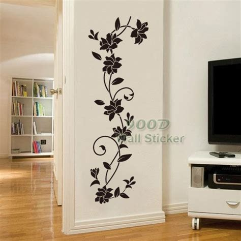 flower vine wall sticker diy home decoration removable