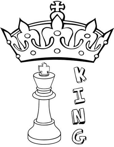 chess king coloring page king chess piece coloring page free printable coloring pages