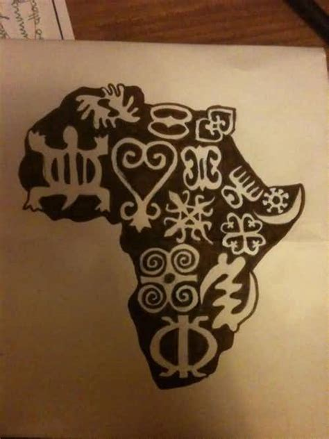 45 another best tattoo of african map