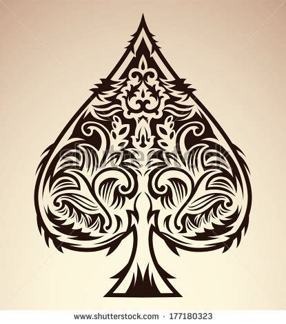 jack of spades tattoo lovely ace of spades tribal style