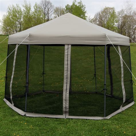 instant gazebo sunnydaze penthouse up instant hexagon canopy gazebo