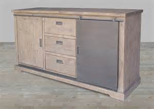 Acacia Wood Sideboard Solid Acacia Wood Amp Steel Sideboard