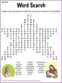 mothers in the bible word search kids korner biblewise