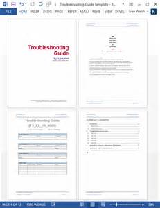 troubleshooting guide template troubleshooting guide template ms word 12 pages free