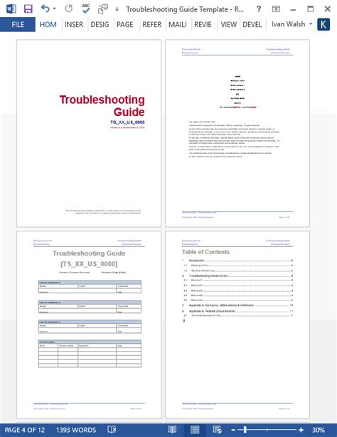 looking for a troubleshooting guide template ms word troubleshooting guide template ms word 12 pages free