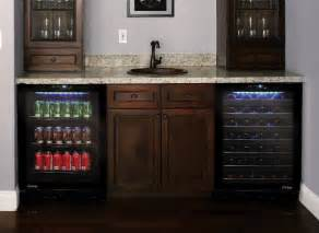 Bar Appliances Wine And Beverage Cooler In Home Bar Contemporary Los