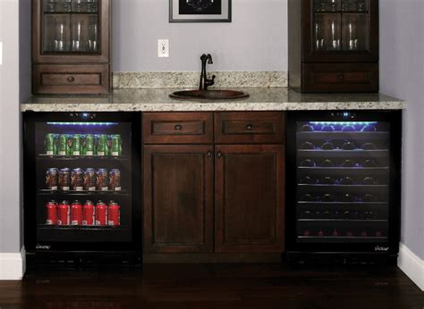 Wine and Beverage Cooler in Home Bar   Contemporary   los