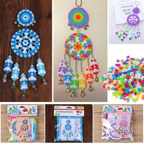 beads decoration home colorful dream catcher windbell diy kit perler fuse beads