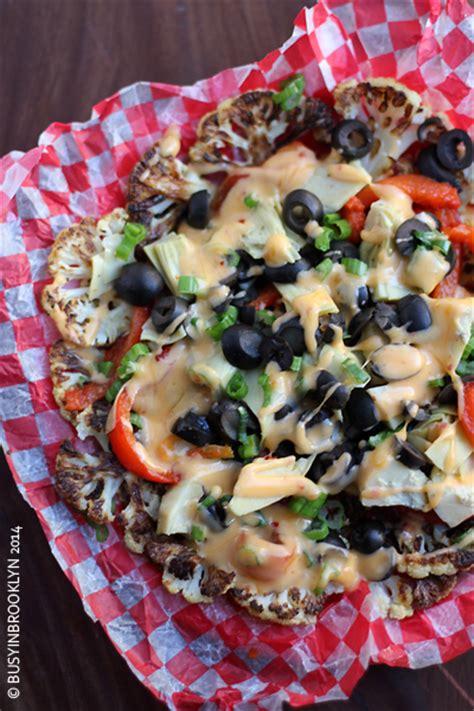 nacho recipe cauliflower busy in brooklyn 187 blog archive 187 cauliflower nachos with