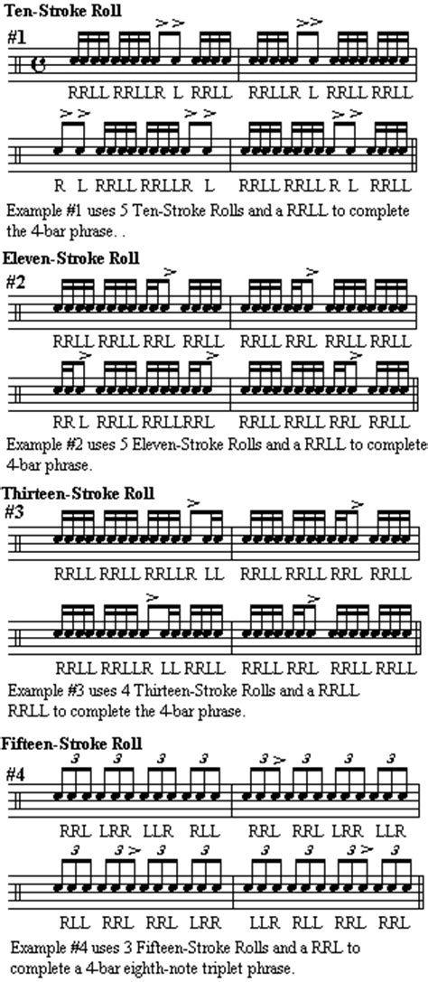 drum roll pattern rudiments around the drums part 3
