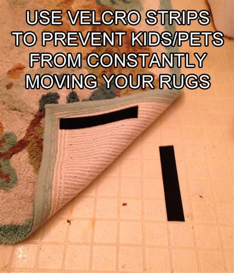 how to keep rugs in place on carpet top 50 hacks defeat boredom
