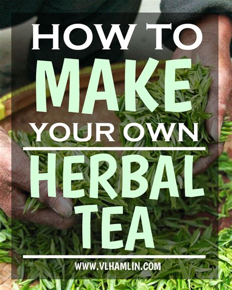 How To Make Your Own Medicinal Detox Teas by How To Make Your Own Herbal Tea Food Design