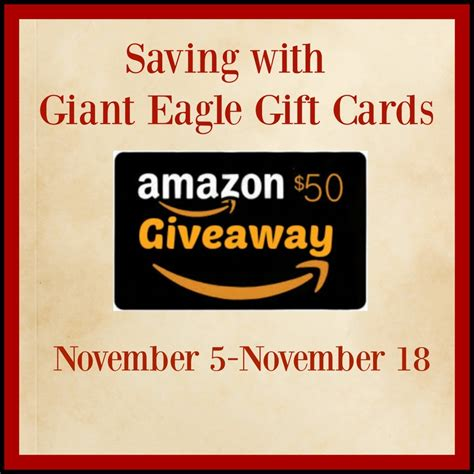 Gift Cards At Giant - saving with giant eagle gift card 50 amazon gift card