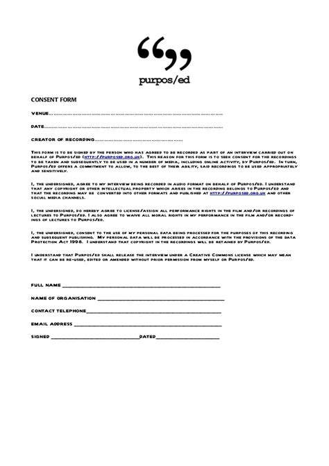 Letter Of Consent For Research Interviewing Consent Form For Purposedfutured