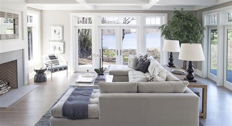 Living Room With Garden Door Family Room Seating And Large Painless Windows Set On