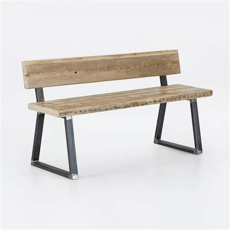 bench with a back reclaimed triangle frame backed bench heyl interiors