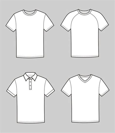T Shirt Flat Sketches by Shirt Sketch At Paintingvalley Explore