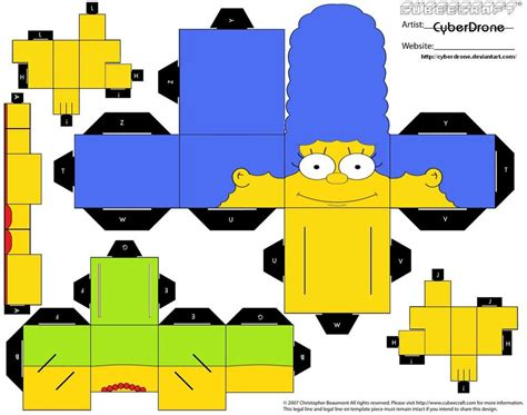 Simpsons Papercraft - my learning journey simpsons family paper craft