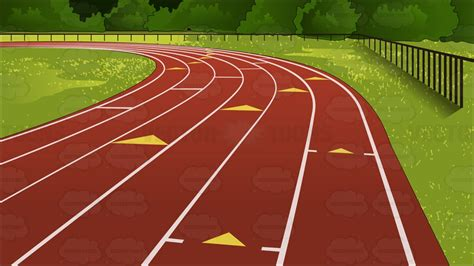 athletic background outdoor running track background clipart by vector
