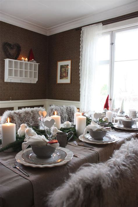 home design grey theme grey christmas table decorations