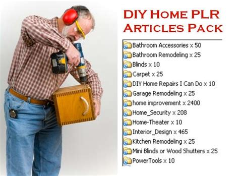 sell top quality 3280 home improvement plr articles pack