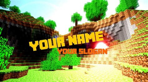 minecraft youtube channel art template minecraft blog