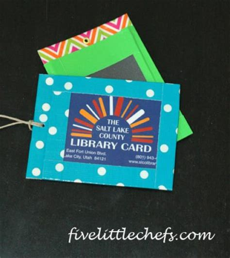 make a library card library card holder family crafts