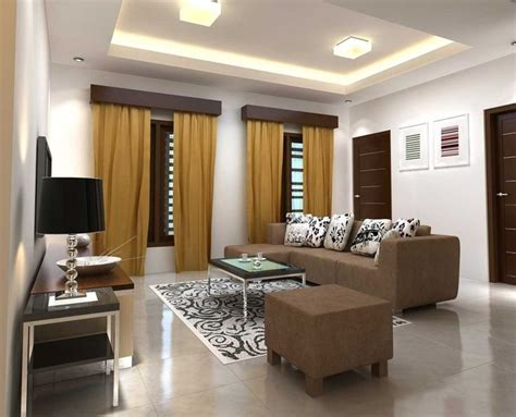 white wall paint color for fabulous living room with brown modern sofa furniture and floor tiles