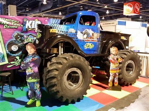 monster truck kids show photos sema show 2013 team kid kj monster truck racing