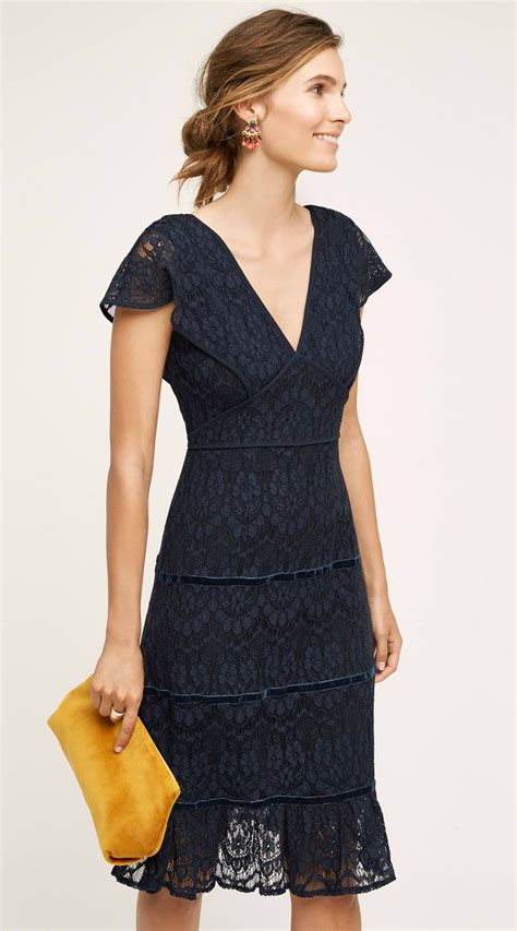 Dresses For Wedding - the navy lace dress for a autumn wedding guest
