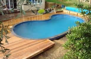semi inground pool decking ideas joy studio design gallery best design