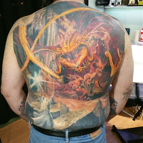 tattoo prices fife gandalf and the balrog original by gonzalo kenny tattoo