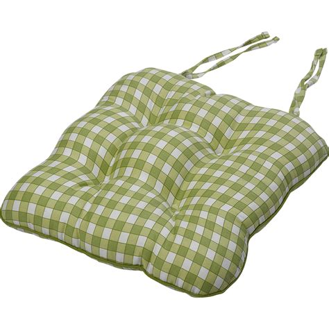 tie on seat pad tie on square gingham chair seat pad cushion outdoor