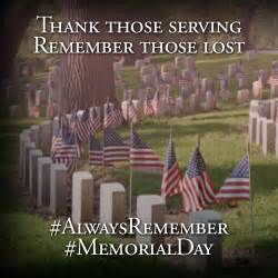 This memorial day remember the sacrifices made for our country