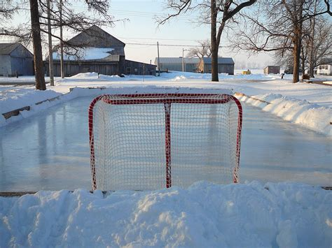 ice skating rink backyard living on earth the thrills and spills of backyard hockey