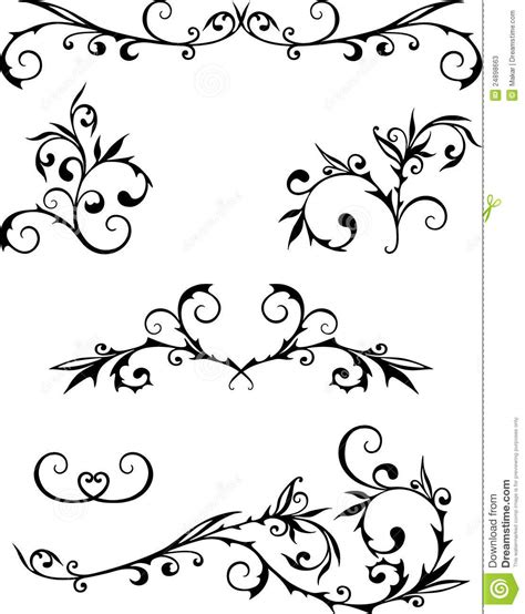 Decorative Curls by Curls Stock Photos Image 24898663