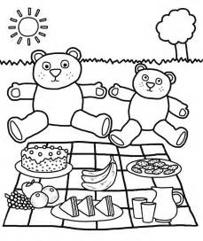 picnic coloring pages teddy picnic coloring pages az coloring pages