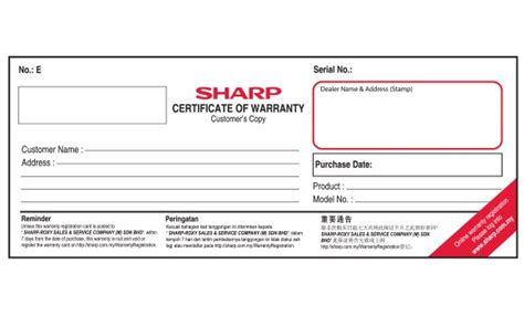 www sharp my warranty sharp