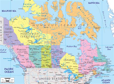 canadian map bc large detailed administrative map of canada canada large