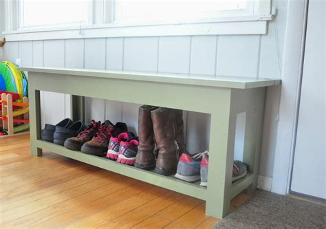 diy shoe rack bench garage design entryway