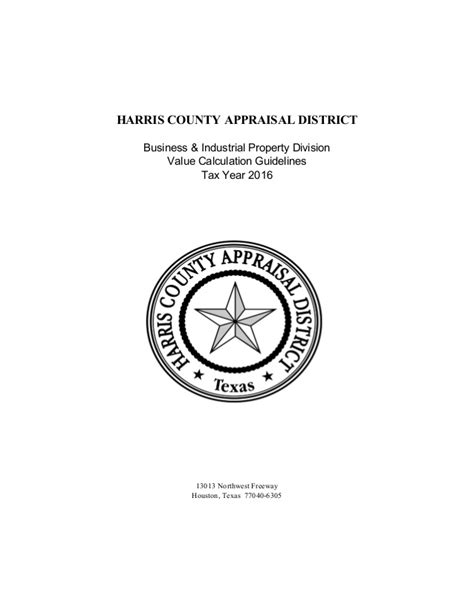 Hcad Property Tax Records Hcad Calculation Guidelines 2016