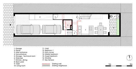 Double Height Living Room by Renovando Una Casa Estrecha En Hanoi Vietnam